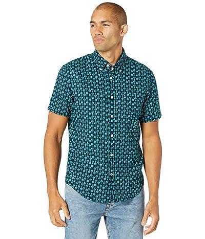 Tommy Hilfiger Linen Short Sleeve Button-Down Shirt in Custom Fit