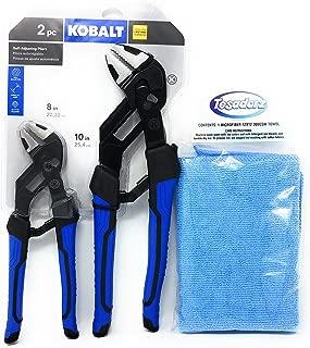 Kobalt 2 Piece 8 and 10 Inch Self Adjusting Pliers Set and Tesadorz Microfiber Towel