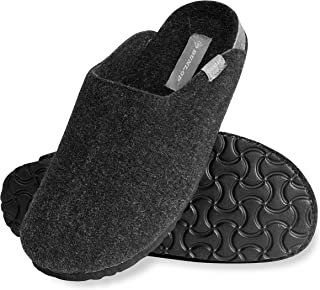 Dunlop Mens Slippers, House Slippers for Men, Felt Slipper for Man, Size 7-12, Comfy Memory Foam Mules, Warm Indoor Anti S...
