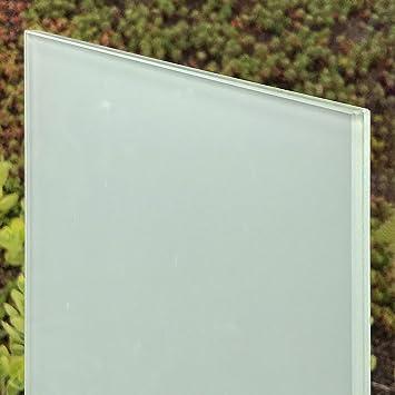 nach Ma/ß bis 240 x 480 cm mattwei/ß Zuschnitt bis 80 x 200 cm Ecken gesto/ßen. Kanten geschliffen und poliert 0,76mm Folie 10mm 800 x 2000 mm VSG Verbundsicherheitsglas matt