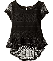 Ella Moss Girl - Isla Short Sleeve Peplum Babydoll (Big Kids)