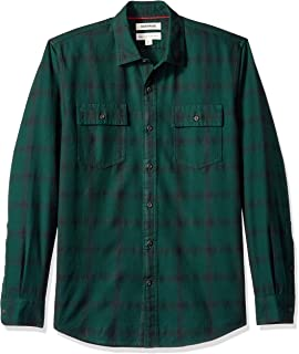 Amazon Brand - Goodthreads Men's Standard-Fit Long-Sleeve Plaid Herringbone Shirt