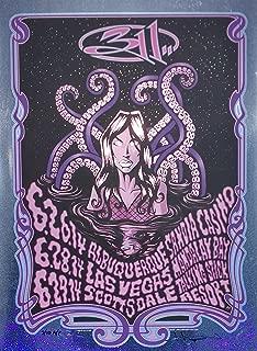 311 Concert Poster Justin Hampton A/P Holographic Foil Variant Southwest 2014