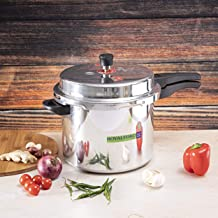 Royalford 10L Aluminum Pressure Cooker - Comfortable Handle Evenly Heating Cooker | Portable & Compact Design | Perfect fo...
