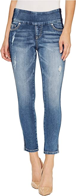 Jag Jeans - Nora Marta Pull-On Skinny Ankle Surrel Denim in River Wash with Color Block