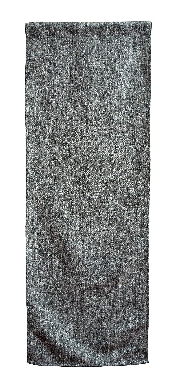フォージ連帯超えるメール便発送 【単品売り】 当店オリジナル ナチュラルでインテリアに合わせやすい麻混生地風のれん Lene リーネ 約42cm×120cm グレー 灰色 組み合わせのれん 洗濯可 ナチュラル リネン調 ミラーレース