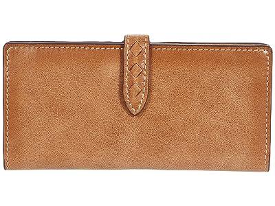 Frye Reed Slim Wallet (Tan) Handbags