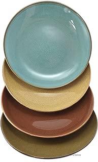 Set 4 Assorted Vintage Glaze Ceramic Coffee Cafe Dessert Plates