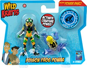 Wild Kratts Toys - 2 Pack Creature Power Action Figure Set - Poison Dart Frog Power - Age 3+