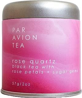 Par Avion Tea , Magic Crystal Tea - Rose Quartz Blend - Small Batch Loose Leaf Black Tea With Rose Petals and Sugar Gems - 2 oz