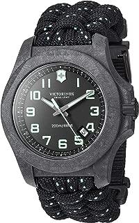Men's I.N.O.X Carbon Swiss Quartz Sport Watch with Nylon Strap, Black, 26 (Model: 241859)