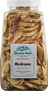 Harmony House Dried White (Button) Mushrooms – Dehydrated Vegetables For Cooking, Camping, Emergency Supply and More, 3 oz, Quart Jar