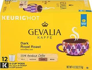 Gevalia Dark Royal Roast Coffee Keurig K Cup Pods (72 Count, 6 Boxes of 12)