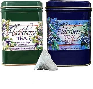 Huckleberry and Elderberry Flavor Ceylon Black Tea Natural Wild Berry 40 Count 20 Tea bags