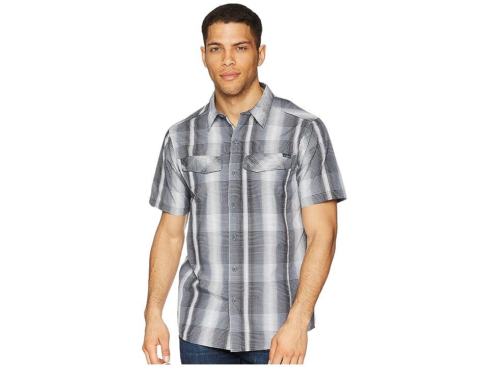 Columbia Silver Ridgetm Multi Plaid S/S Shirt (Black Multi Plaid) Men