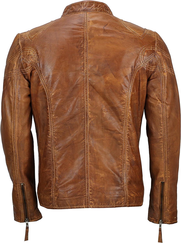 Ladies Womens Short Biker Jacket Coat Short Fitted Tan Brown Retro