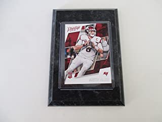 AUSTIN ALLEN TAMPA BAY BUCCANEERS 2018 NFL PRESTIGE ROOKIE PLAYER CARD MOUNTED ON A 4