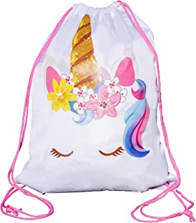Unicorn Drawstring Bag, Unicorn Party Favor Bag, Overnight Bag (1)