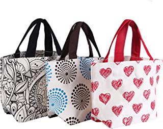 Cotton Canvas Lunch Bags from Earthbags (Pack of 3)