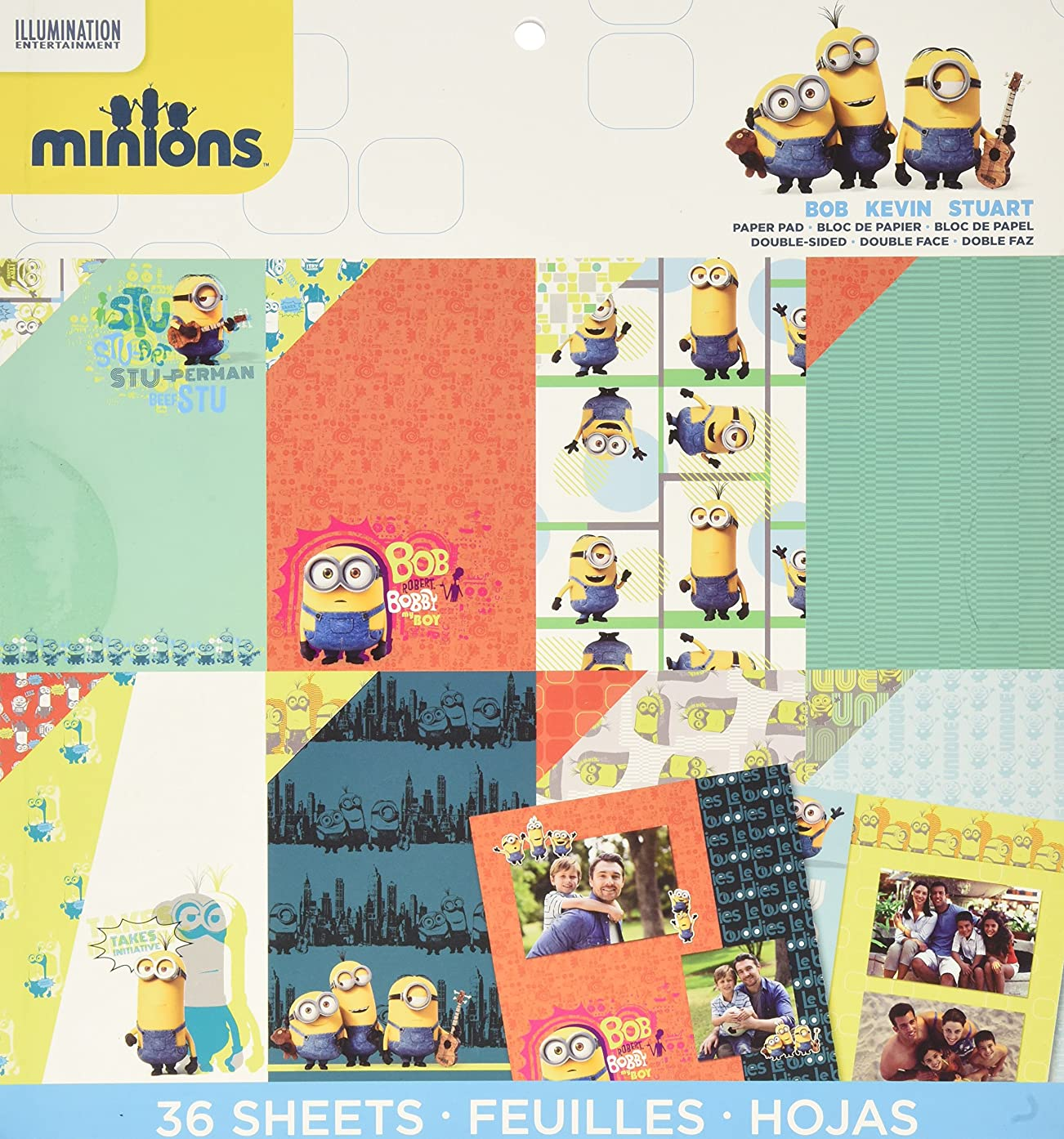 EK Success 53-05013 Minions Paper Pad (36 Pack), 12