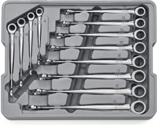 GEARWRENCH 12 Pc. 12 Point XL X-Beam Ratcheting Combination Metric Wrench Set - 85888