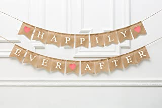 Happily Ever After Banner, Wedding Sign, Wedding Reception, Party Sign, Wedding Cake, Wedding Cake Table