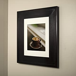 14x18 Coffee Bean Concealed Medicine Cabinet (Large), a Recessed Mirrorless Medicine Cabinet with a Picture Frame Door