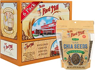 Bob's Red Mill Resealable Organic Chia Seeds, 12 Oz (6 Pack)