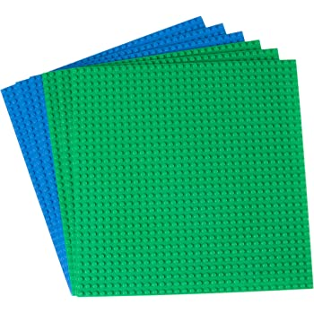 6 Square Plates Green Pending Double Sided for Large /& Small Bricks SG/_B01LYWVXW0/_US Strictly Briks The Cube 3D Building Brick /& Storage Container Set Pat Compatible with All Major Brands