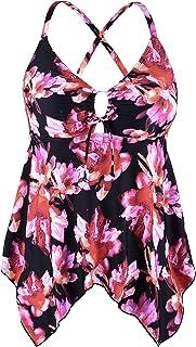 fe6bfa88fd0 Amazon.com  Plus Size - Tankinis   Swimsuits   Cover Ups  Clothing ...