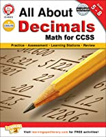 Mark Twain | All About Decimals Math for CCSS Workbook | Grades 5–8, Printable