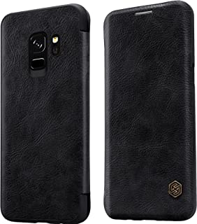 Nillkin Qin Series Leather Case For Samsung Galaxy S9, Black