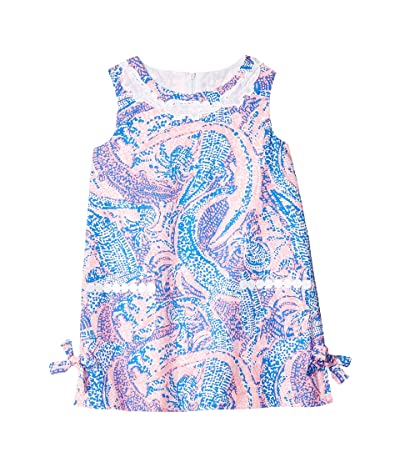 Lilly Pulitzer Kids Little Lilly Classic Dress (Toddler/Little Kids/Big Kids) (Coastal Blue Maybe Gator) Girl