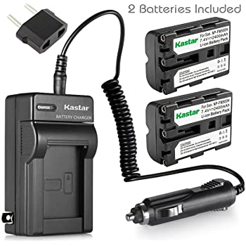 Kastar NP-FM500H Battery (2-Pack) and Charger Kit for Sony DSLR-A100 A200 A300 A350 A450 A500 A550 A560 A580 A700 A850 A900 Alpha SLT A57 A58 A65 A65V A77 A77V A77 II A77M2 A99 A99V CLM-V55 Cameras
