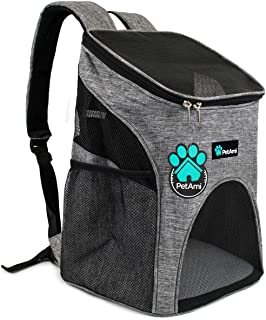 PetAmi Premium Pet Carrier Backpack for Small Cats and Dogs | Ventilated Design, Safety Strap, Buckle Support | Designed f...