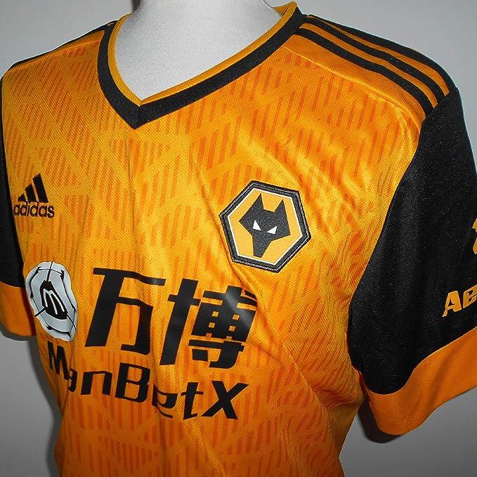 Amazon.com: adidas 2020-2021 Wolves Home Football Soccer T-Shirt ...
