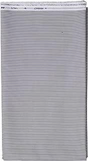 Uniform Sarees Men's Unstitched Cotton Formal Shirt Fabrics (White and Grey Liney, 2.5M)