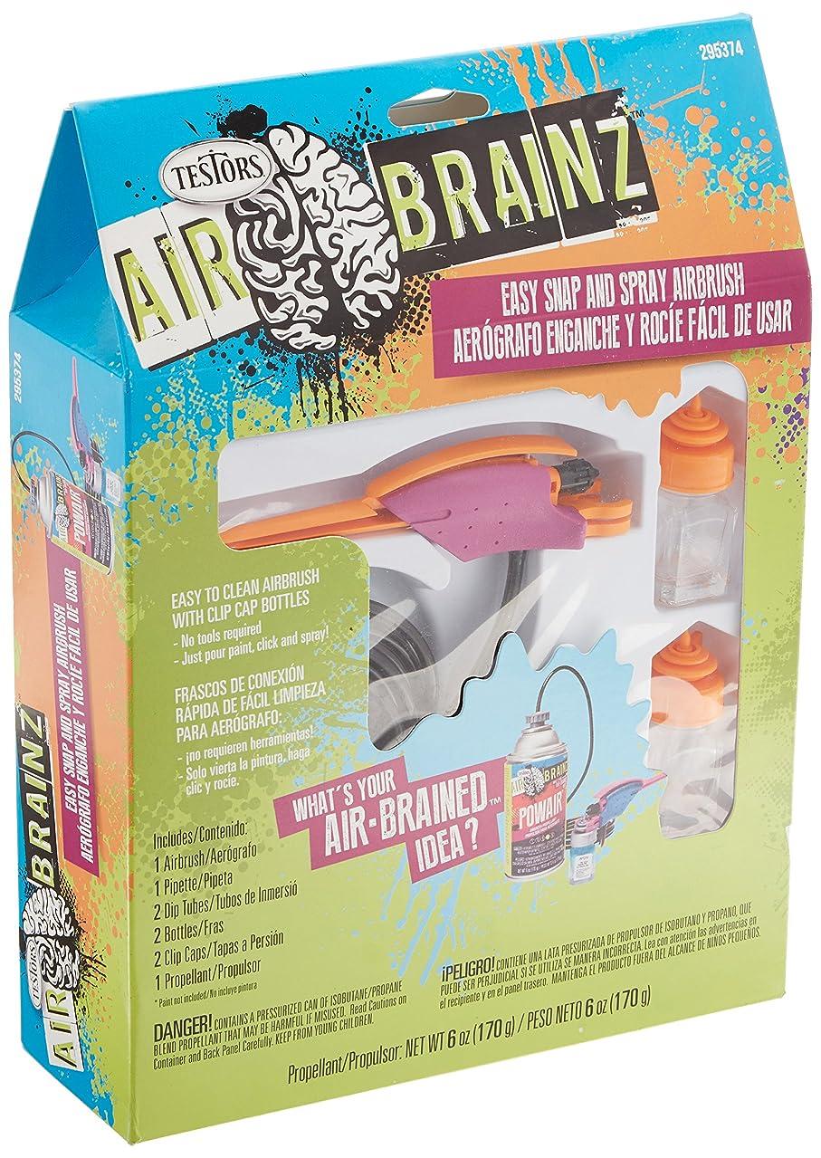 Testors AirBrainz Airbrush Kit-Pink/Orange,