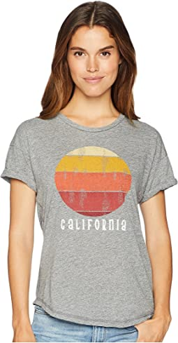 California Mock Twist Rolled Short Sleeve Tee