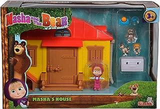 SIMBA 109301633 Bear-Masha's House Playset, Assorted