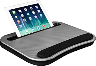 LapGear Smart-e Lap Desk - Silver Carbon - Fits up to 15.6 Inch laptops and Most Tablet Devices - Style No. 91335