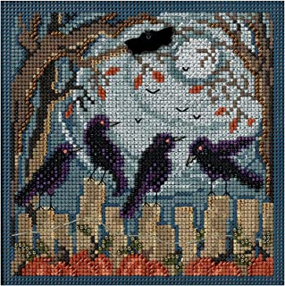 Ravens Autumn Buttons & Beads Counted Cross Stitch Kit-5x5 14 Count