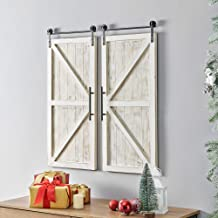 """FirsTime & Co. Carriage House Barn Door Wall Plaque Set, 34""""L x 14""""W, Aged.."""
