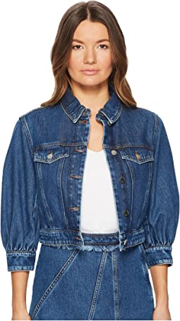 Sportmax Agente Denim Puff Sleeve Jacket