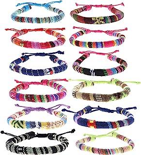 FROG SAC 12 VSCO Bracelets for Teen Girls, VISCO Girl Braided Friendship Bracelets for Women and Men, VSCO Girl Stuff, Boh...