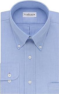 Men's Dress Shirt Regular Fit Oxford Solid Buttondown Collar