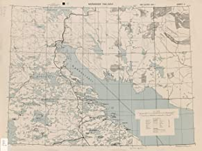 Map Poster - Murmansk Railway Sheet 2, 1:300,000, Gloss finish
