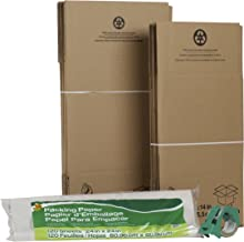 Duck Brand Moving Kit with 12 Boxes, 120 Sheets Packing Paper, 1 Roll HD Clear Packing Tape (280378)