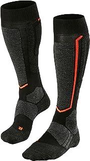 FALKE Snowboardocken SB2 Wolle Damen schwarz weiß viele weitere Farben Dicke verstärkte Snowboardstrümpfe ohne Muster mit mittelstarker Polsterung kniehoch und warm zum Snowboardfahren 1 Paar