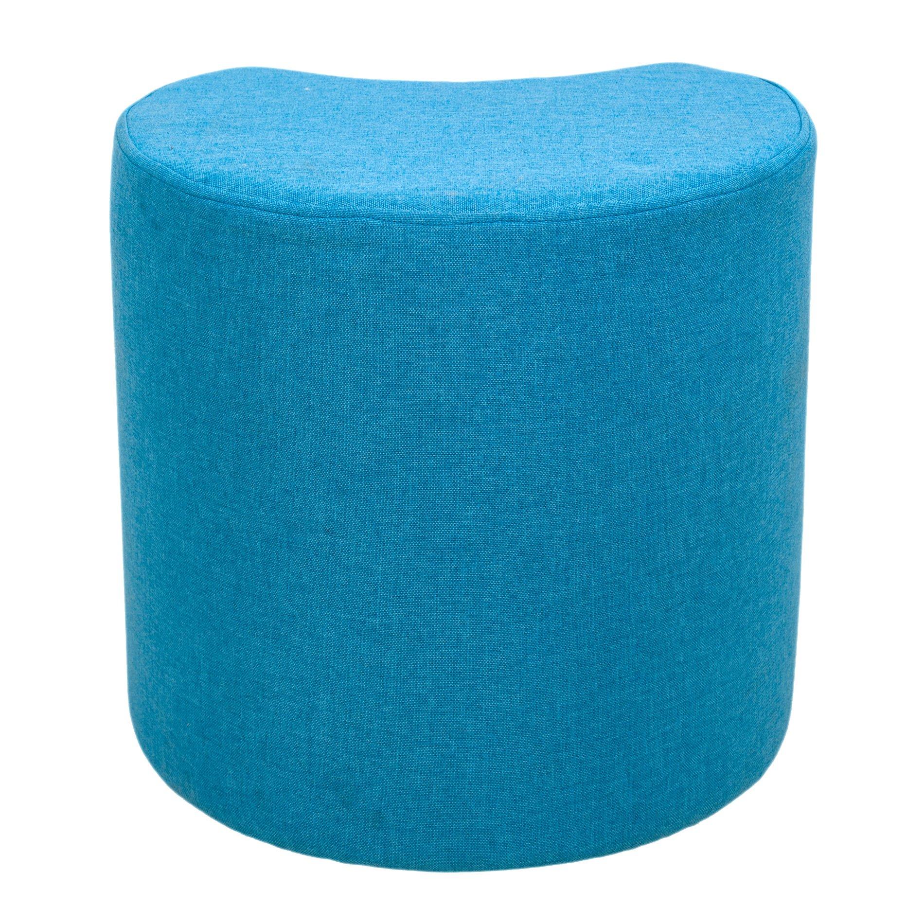 HOUSE NORDIC Colore Pouf Gamby in Velluto Blu con Base in Acciaio Ottone